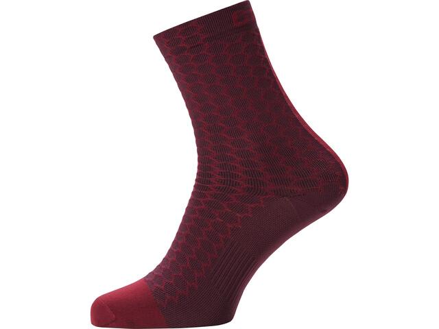 GORE WEAR C3 Heptagon Chaussettes mi-hautes, chestnut red